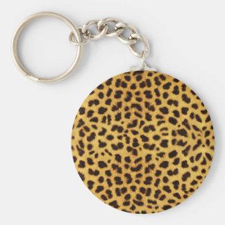 Porte - clé d'empreinte de léopard porte-clé rond