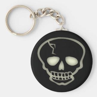 Porte - clé déplaisant de crâne porte-clé rond