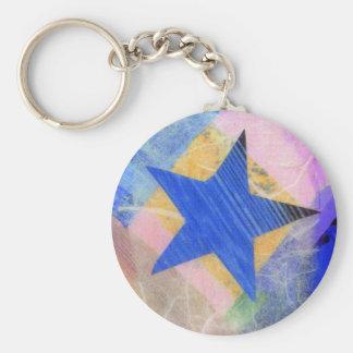 Porte - clé d'étoile bleue porte-clés
