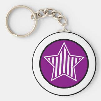 Porte - clé d'étoile de pourpre et de blanc porte-clés