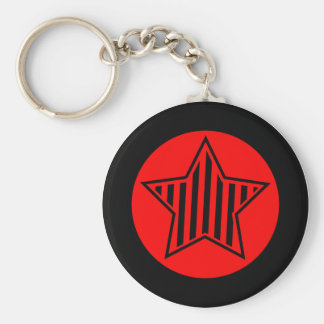 Porte - clé d'étoile de rouge et de noir porte-clés