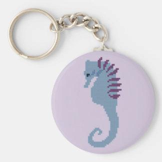 Porte - clé d'hippocampe porte-clé rond