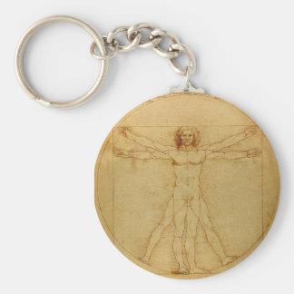 Porte - clé d'homme de Vitruvian Porte-clé Rond