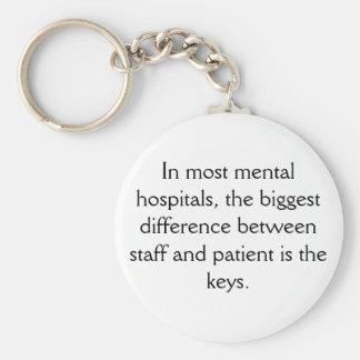 Porte - clé d'hôpital psychiatrique porte-clé rond