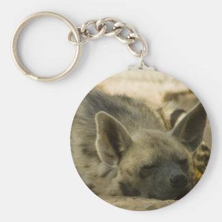 Porte - clé d'hyène de sommeil porte-clé rond