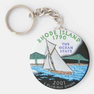 Porte - clé d'Île de Rhode Porte-clé Rond