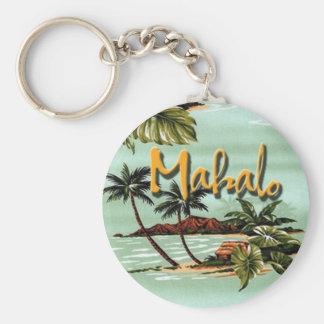 Porte - clé d'île hawaïenne de Mahalo Porte-clé Rond