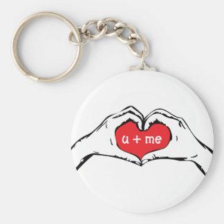 Porte - clé disponible de coeur porte-clé rond
