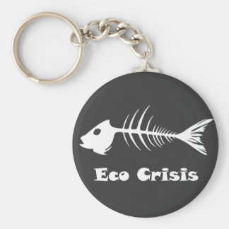 Porte - clé d'obscurité de crise de Fishbone Eco Porte-clé Rond