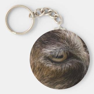 porte - clé d'oeil de chèvre porte-clé rond