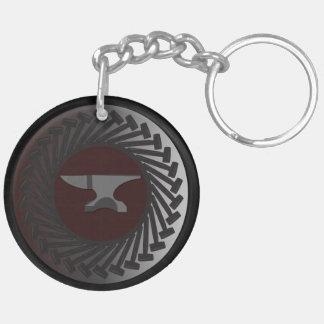 Porte - clé (double face) de cercle - ENCLUME et Porte-clé Rond En Acrylique Double Face