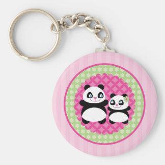 Porte - clé d'ours panda de fille porte-clé rond
