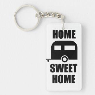 Porte - clé doux à la maison de remorque de porte-clé  rectangulaire en acrylique une face
