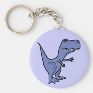 Porte - clé drôle de dinosaure de T-Rex Porte-clé Rond