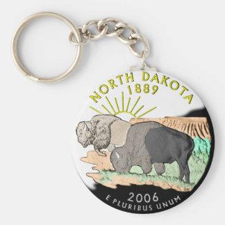 Porte - clé du Dakota du Nord Porte-clé Rond