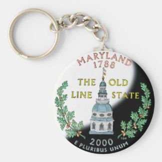 Porte - clé du Maryland Porte-clé Rond