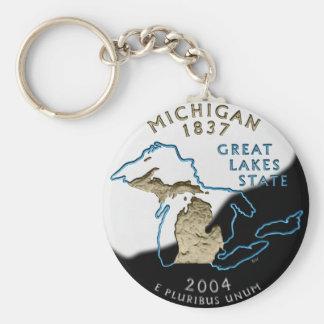 Porte - clé du Michigan Porte-clé Rond