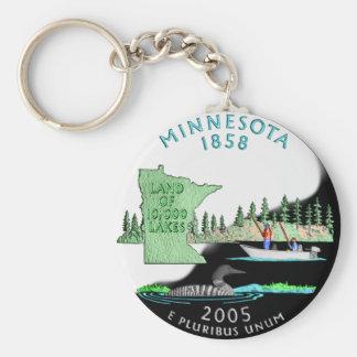 Porte - clé du Minnesota Porte-clé Rond