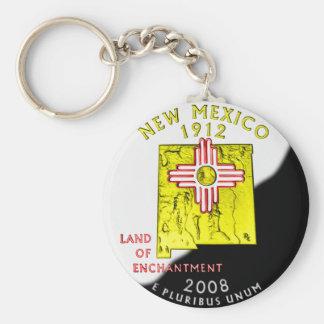 Porte - clé du Nouveau Mexique Porte-clé Rond