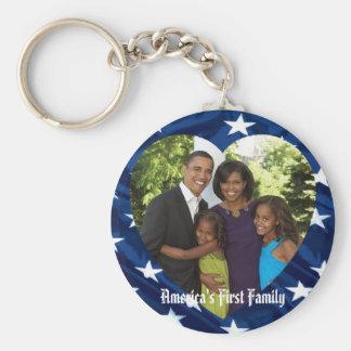 Porte - clé du Président Obama Keepsakes First Porte-clé Rond