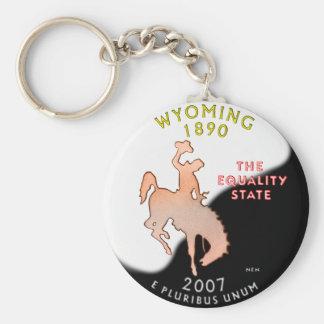 Porte - clé du Wyoming Porte-clé Rond