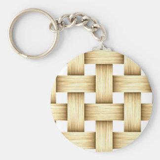 Porte - clé en bois de mode de trellis de dames porte-clé rond