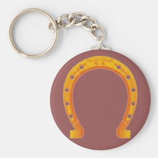 Porte - clé en fer à cheval d'or porte-clef