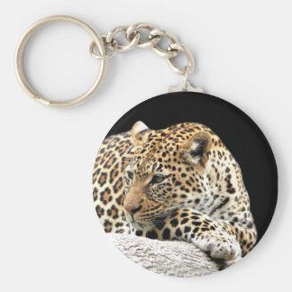 Porte - clé ennuyé de léopard porte-clé rond
