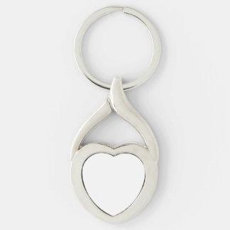 Porte - clé fait sur commande de coeur porte-clé argenté cœur torsadé