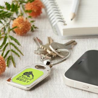 Porte - clé fait sur commande de couleur et de porte-clé rectangulaire argenté