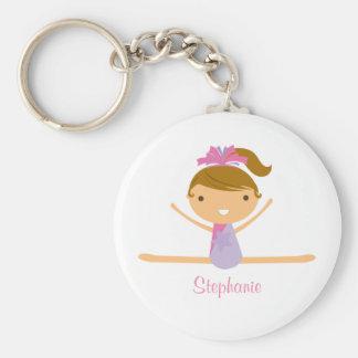 Porte - clé fendu personnalisé d'enfants de filles porte-clé rond