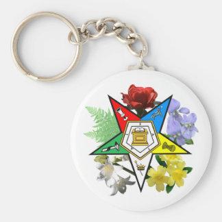 Porte - clé floral d'emblème d'OES Porte-clé Rond