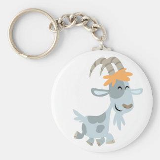 Porte - clé frais mignon de chèvre de bande porte-clé rond
