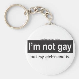 Porte - clé gai d'amie porte-clé rond