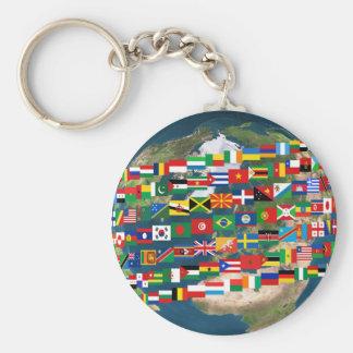 Porte - clé global de la diversité #2 porte-clé rond