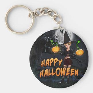 Porte - clé heureux de Halloween Skye Porte-clé Rond