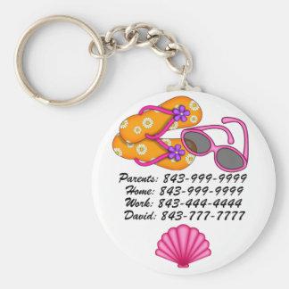 Porte - clé important de numéros de téléphone par porte-clé rond
