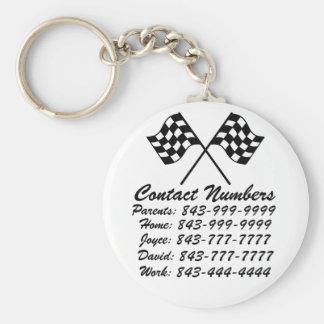 Porte - clé important de numéros de téléphone par porte-clés