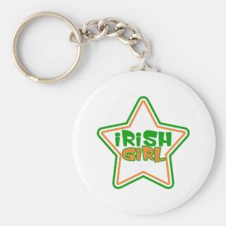 Porte - clé irlandais de fille porte-clé rond