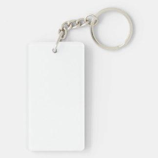 Porte - clé isolé de pays porte-clé  rectangulaire en acrylique une face