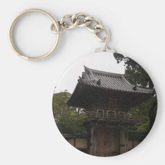 Porte - clé japonais d'entrée de jardin de thé de porte-clé rond