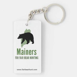 Porte - clé juste de chasse à ours porte-clé rectangulaire en acrylique double face