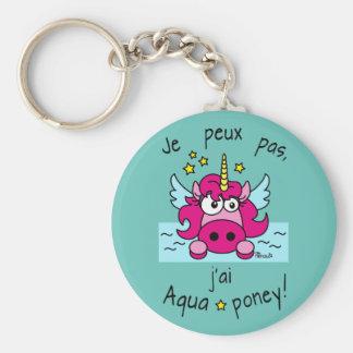 Porte clé Licorne, Aquaponey Porte-clé Rond