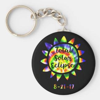 Porte - clé lumineux total de colorant de cravate porte-clé rond