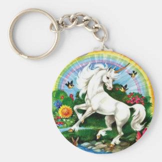 Porte - clé magique de licorne porte-clé rond