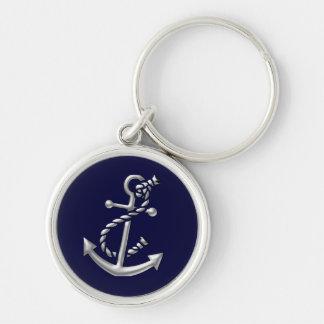 Porte - clé Marin-Orienté nautique de cadeau de Porte-clé Rond Argenté