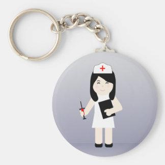 Porte - clé mignon 2 de l'infirmière 3 porte-clé rond