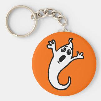 Porte - clé mignon de fantôme porte-clé rond