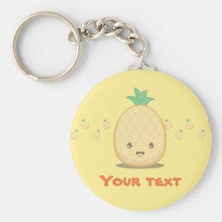 Porte - clé mignon de fruit d'ananas porte-clé rond