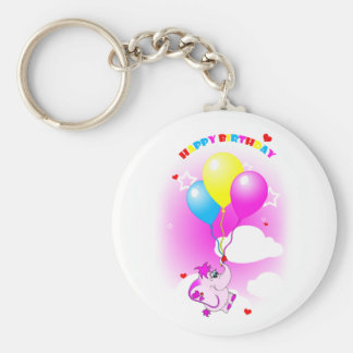 Porte - clé mignon de joyeux anniversaire porte-clé rond